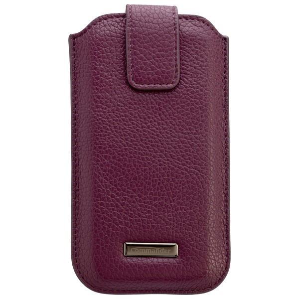 COMMANDER ROMA Leder Tasche Purple, violett f. Motorola Atrix HD
