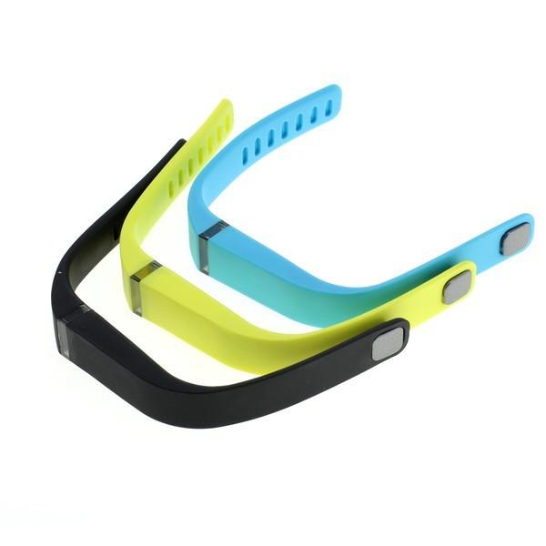 Armband f. Fitbit Flex  3er Set - schwarz/gelb/blau