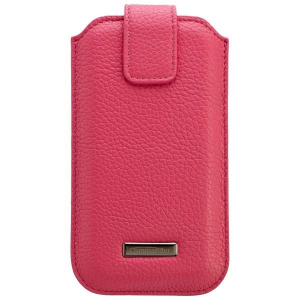COMMANDER ROMA Leder Tasche Pink f. Apple iPhone 6