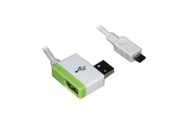 USB Dual Micro USB  Lade Adapter f. Huawei Ascend Y201 Pro