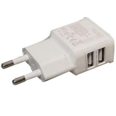 Dual USB Ladegerät weiss f. Asus Eee Pad Slider SL101