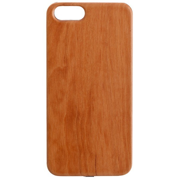 Qi Wireless Charger WOODY RECEIVER COVER für Apple iPhone 6S - Light Brown