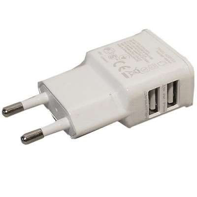 Dual USB Ladegerät weiss f. Asus Eee Pad Transformer TF101G